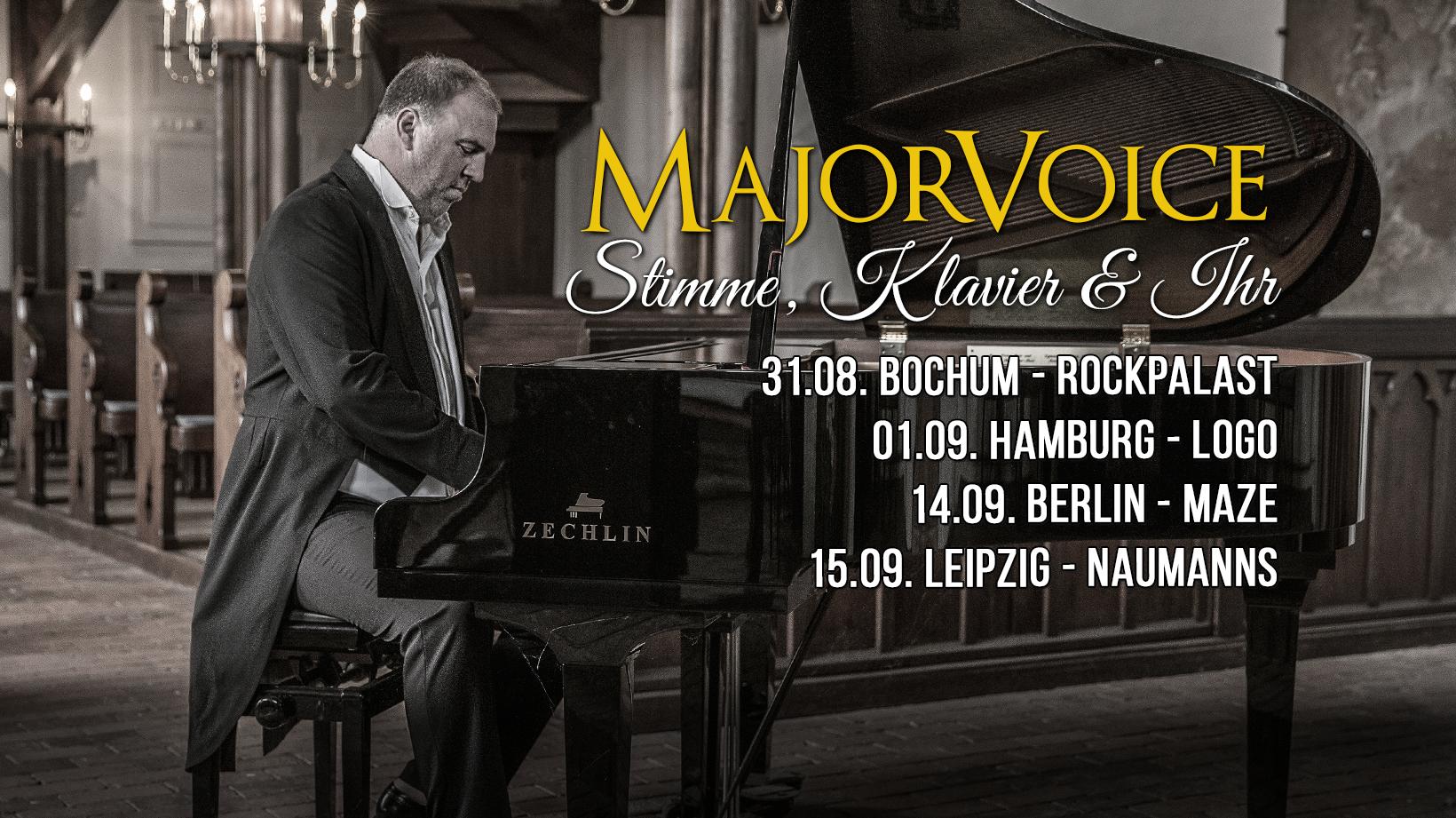 MajorVoice Stimme Klavier Ihr Tour 2018